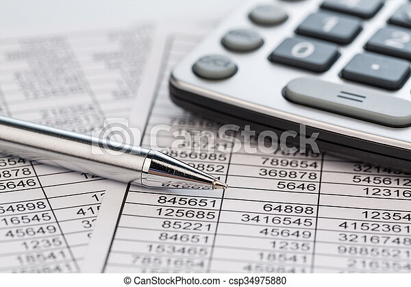 statistk, calculadoras - csp34975880