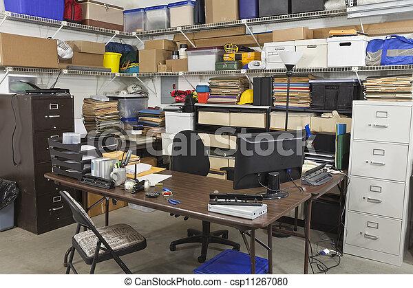 sujo, costas, escritório - csp11267080