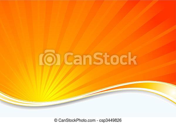 sunburst, fundo - csp3449826