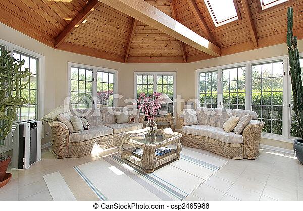 sunroom, lar, luxo - csp2465988