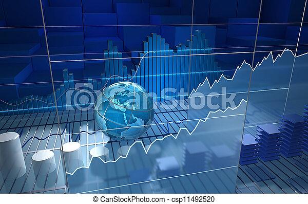 tábua, bolsa de valores, abstratos - csp11492520