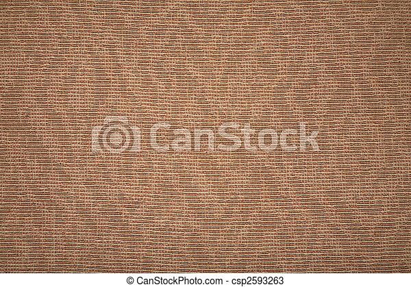 têxtil, marrom, grosseiro, textura - csp2593263