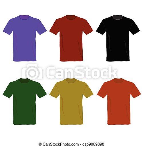 t-shirt, vetorial, ilustração - csp9009898