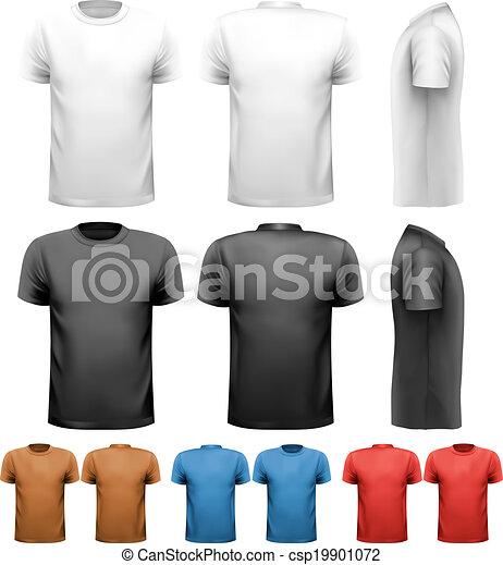 t-shirts., coloridos, desenho, vector., macho, template. - csp19901072