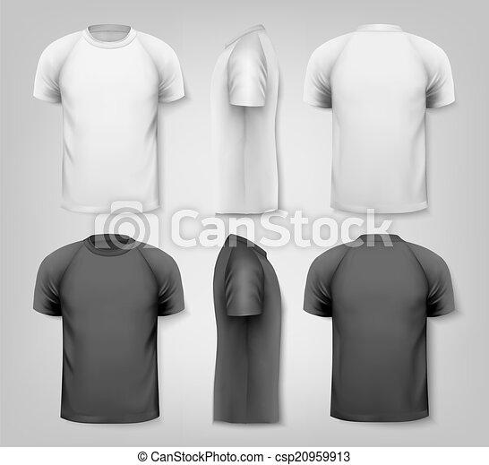 t-shirts., coloridos, vetorial, desenho, macho, template. - csp20959913