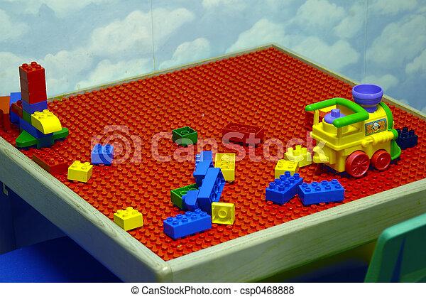 tabela, jogo, criança - csp0468888