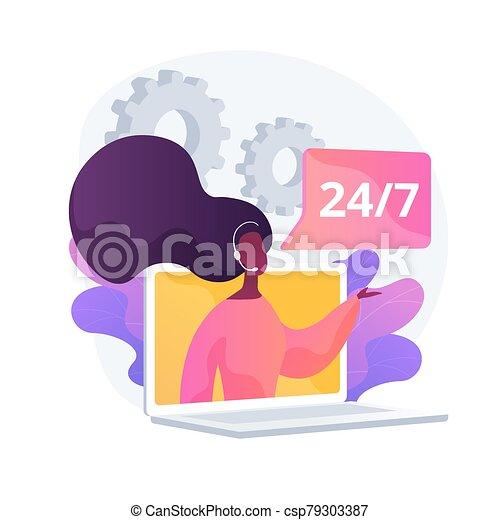 tech, vetorial, conceito, metáfora, apoio - csp79303387