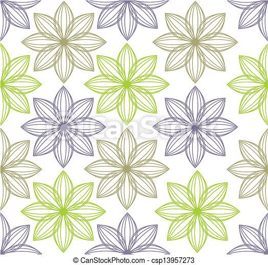 teste padrão flor, seamless, fundo - csp13957273
