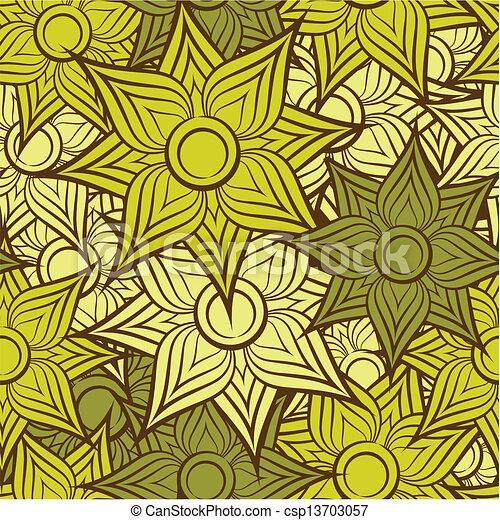 teste padrão flor, seamless, fundo - csp13703057