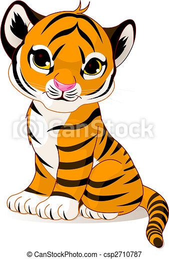 tiger, cute, filhote - csp2710787