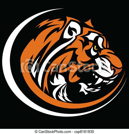 tiger, imagem, gráfico, vetorial, mascote - csp8161830
