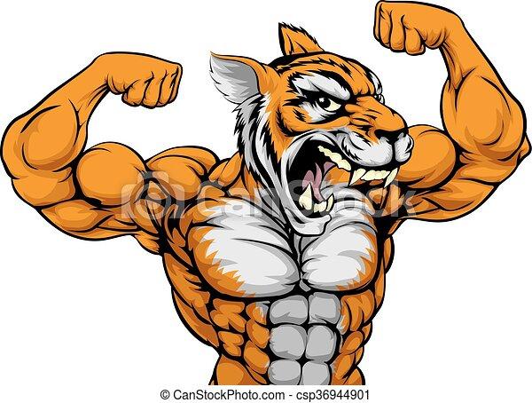 tiger, mascote - csp36944901