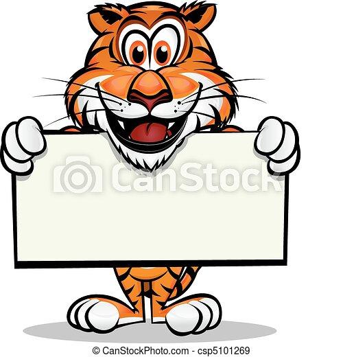 tiger, mascote, cute - csp5101269