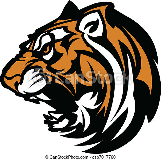 tiger, mascote, gráfico - csp7017760