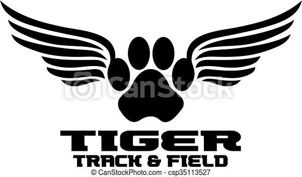 tiger, pista - csp35113527