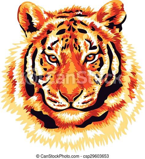 tiger, vermelho - csp29603653