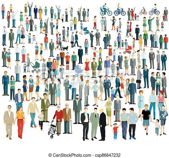 torcida, diferente, people.eps, grande - csp86647232