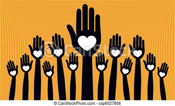 torcida, grande, pessoas., amando - csp6527856
