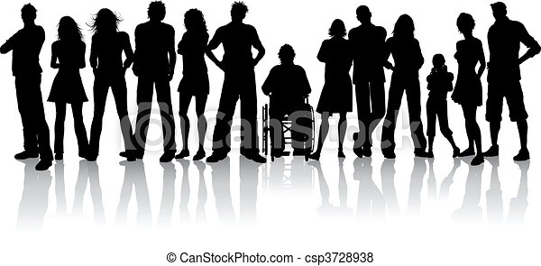 torcida, grande, pessoas - csp3728938