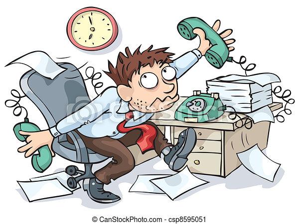 trabalhador, escritório - csp8595051