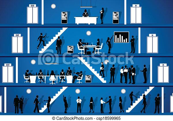 trabalhando escritório, pessoas - csp18599965