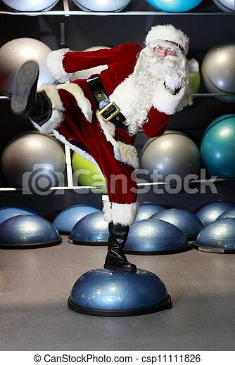 treinamento, claus, vivamente, santa, condicão física - csp11111826