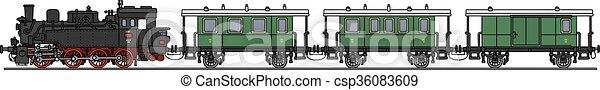 trem, vapor, clássicas - csp36083609