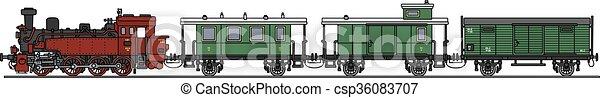 trem, vapor, clássicas - csp36083707