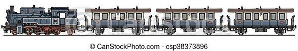 trem, vapor, clássicas - csp38373896