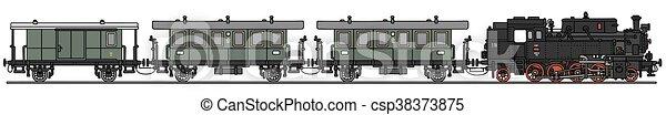 trem, vapor, clássicas - csp38373875