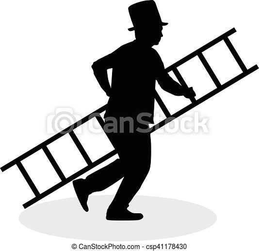 varredura, chaminé, escada - csp41178430