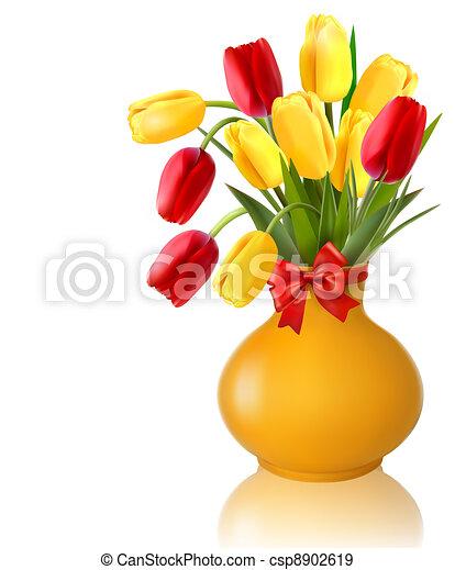 vaso, flores mola - csp8902619