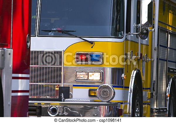 veículos, parada, emergência - csp1098141