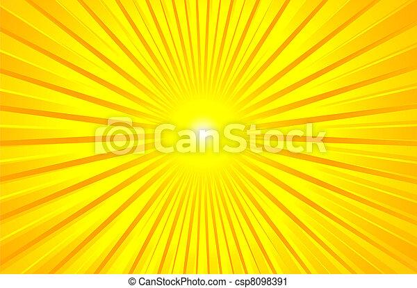 verão, quentes, brilhar, sol - csp8098391