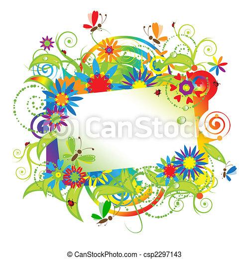 verão, sonhos, cartão cumprimento - csp2297143