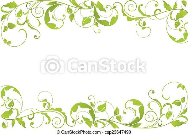 verde, borda - csp23647490