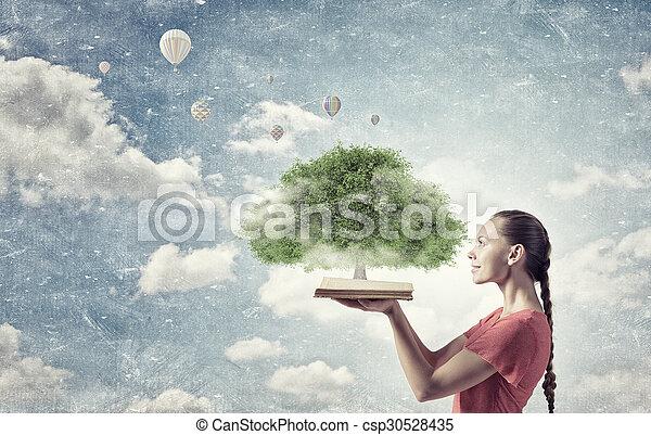 verde, conceito, árvore - csp30528435