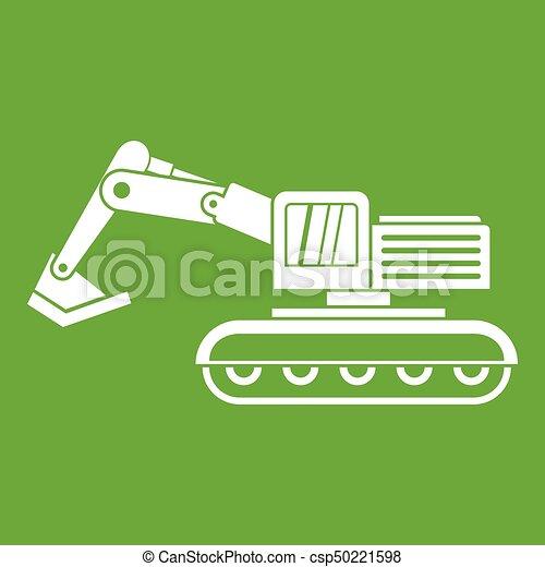 verde, escavador, ícone - csp50221598