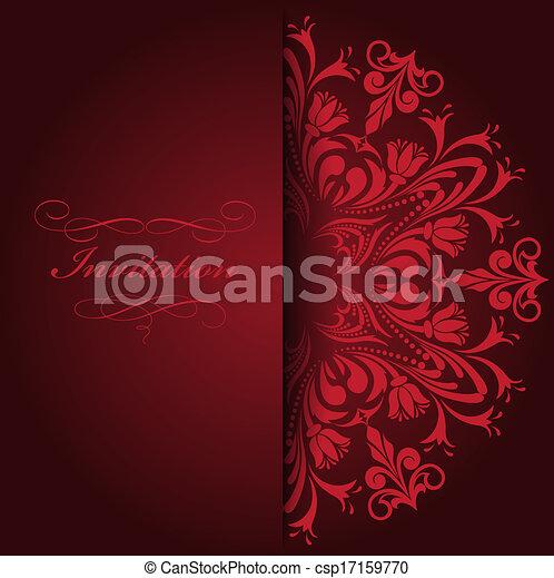 vermelho, convite - csp17159770
