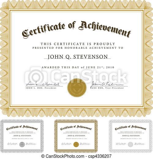 vetorial, guilloche, jogo, certificado - csp4336207