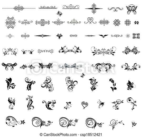 vindima, divisores, elementos, desenho - csp18512421