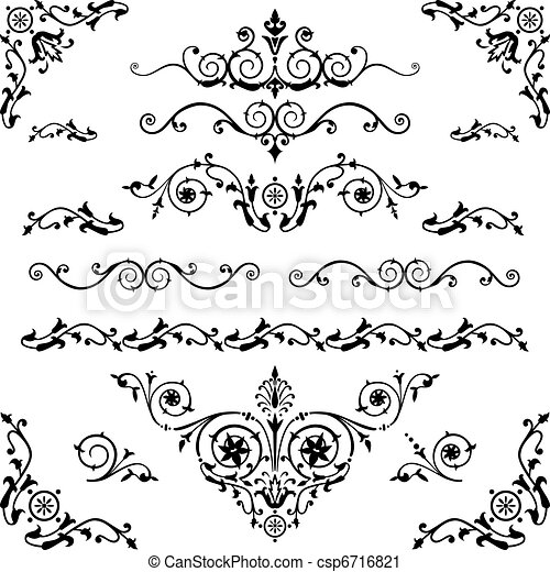 vindima, elementos, desenho - csp6716821