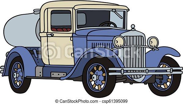 vindima, leiteria, caminhão, tanque - csp61395099