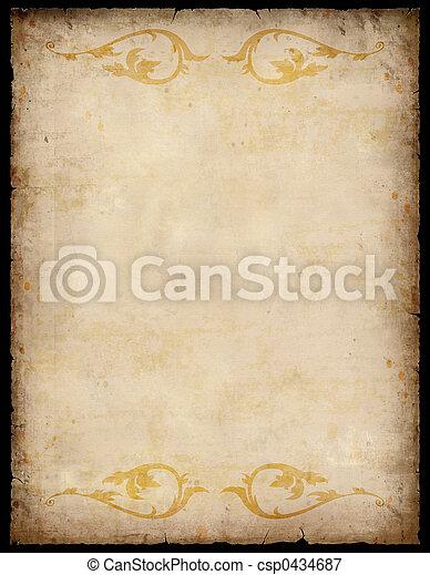 vindima, papel, fundo, padrões - csp0434687