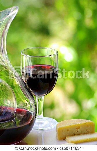 vinho tinto, queijo - csp0714634