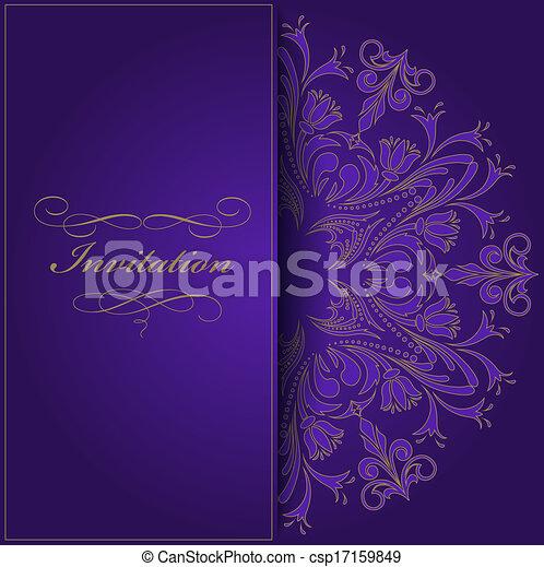 violeta, convite - csp17159849