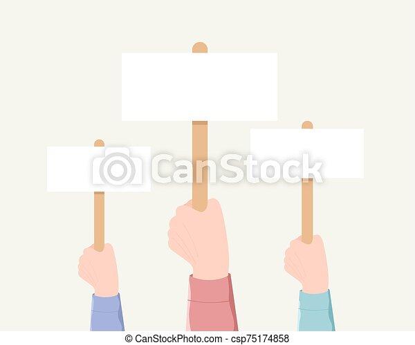 votando, demonstração, minting, concept. - csp75174858