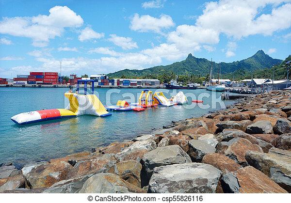 waterpark, rongohiva, cozinheiro, rarotonga, ilhas, avarua - csp55826116